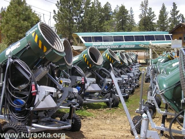 Big Bear snow cannons