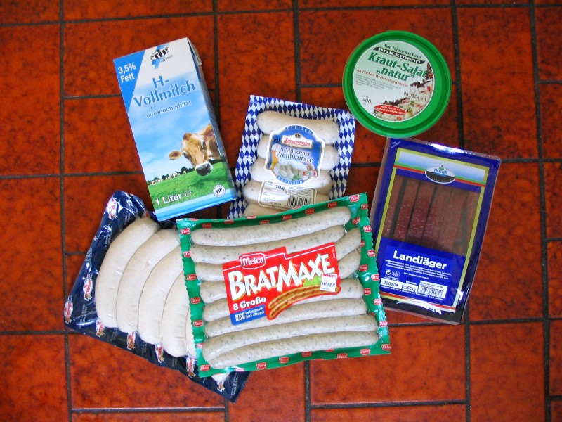 Some typical German groceries that we don't have in the U.S.