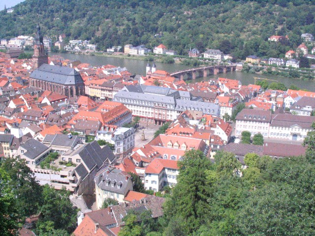 Bad photo of Heidelberg, from the castle